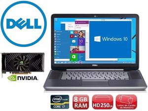 Notebook Gamer Dell, i7, 8 Gb, Tela 15, Gforce, Hd 250Gb,