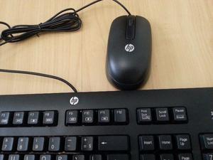 Teclado + Mouse HP USB Original Preto * NOVA