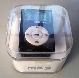 Mini Mp3 Player com Fone de Ouvido e Rádio FM