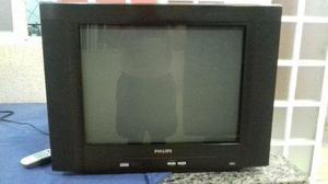 Tv de 21 polegadas tela plana philips bem conservada tudo