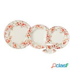 Aparelho Jantar Porcelana 30 Peças Cherry Blossom 20878