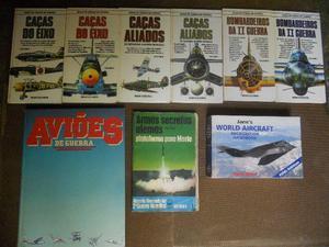 9 livros de aviação em ótimo estado