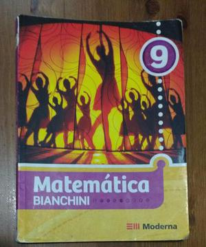 Livro Matemática Bianchini 9 Usado