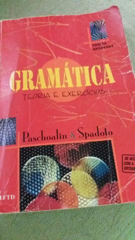 Livro de Gramática teoria e exercícios Autor Paschoalin &