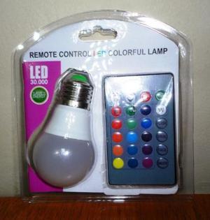Lampada de Led Colorida Com Controle Remoto com Efeitos