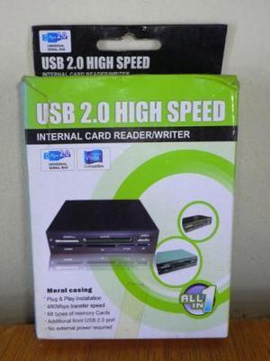 Leitor De Cartões De Memórias Interno Para Desktop Usb 2.0