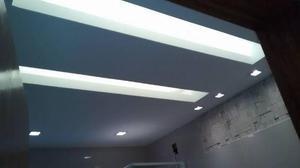 Forro e divisória em drywall, gesso liso e mosaico 3D