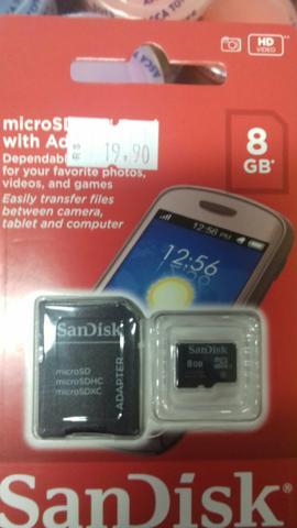 Cartão de Memória 08Gb SanDisk