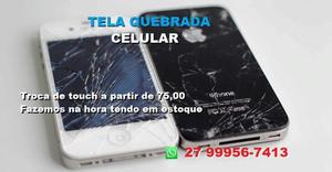 Troca touch vidro lcd display tela - iPhone iPad Samsung LG