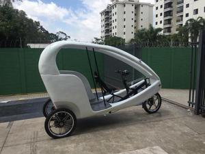 Bicicleta triciclo de marcha e elétrica - Igual ao usado