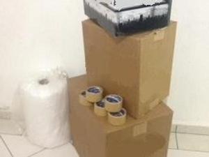 caixas de papelão novas e semi-novas, para mudanças,