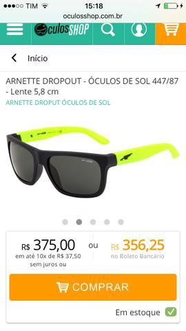 Excelente óculos de sol, usado pouquíssimas vezes!
