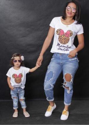 Kit Camisetas Mãe e Filho & Pai e Filho