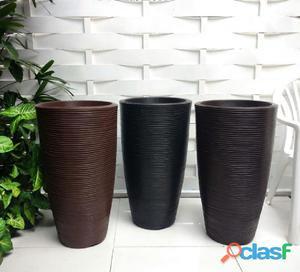 Vaso de planta em polietileno decoração 75x40cm