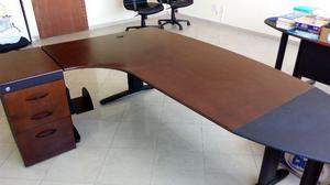 2 Conjuntos de Mesa De Trabalho E Cadeira Diretor