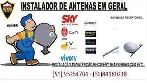 Instalador de antenas.Porto Alegre
