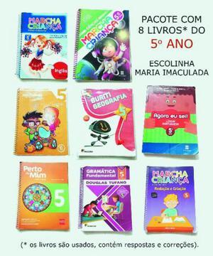 Pacote com 8 livros do 5o ano - Escolinha Maria Imaculada