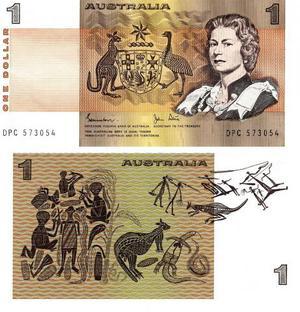 Austrália - Cédula 1 Dólar  FE - Raridade - Flor de