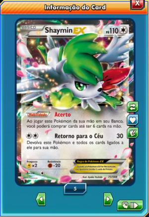 Shaymin Ex Pokemon Trading Card Game Online