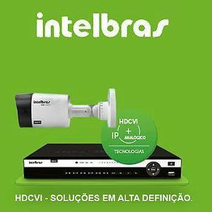 Dvr 16 canais INTELBRAS HDCVI + 3 Câmeras HDCVI intelbras