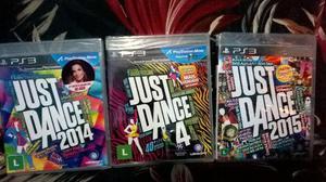 JUST DANCE  E  JOGOS PS3 originais e lacrados