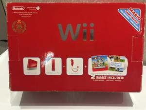 Wii vermelho: Edição aniversário 25anos Mário Bros