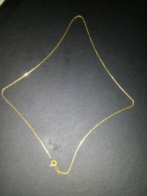 Gargantilha de ouro 18 com 39 cent