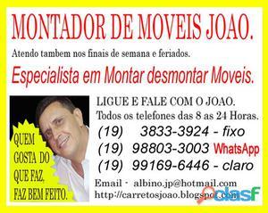 Montador de Moveis em Barao Geraldo, Campinas, Paulinia.