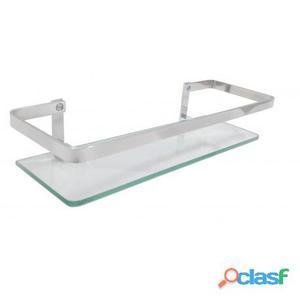 Porta Shampoo Reto Stander Athena com Grade e Vidro 6mm