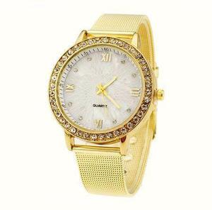 Relógio Feminino Dourado Casual (Não e a prova de água)