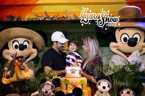 Personagens Vivos Mickey e Minnie Safari