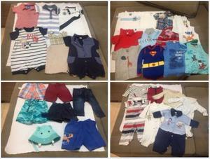 Lote de roupas menino de 6 a 12 meses 32 peças