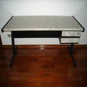 Vd Cj de 3 mesas de formica granito e aço para escritório