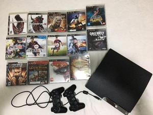 PSGB + 2 controles + 14 Jogos Originais + 6 Jogos na