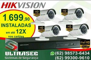 Kit completo hikvision 720p instalados