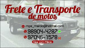 Frete e transporte de motos. a partir $50 reais
