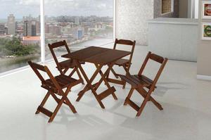 Jogo Mesa 4 Cadeiras Dobrável 70 x 70 cm da Maplan -