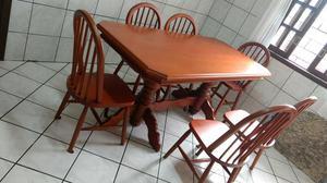 Mesa jantar madeira maciça