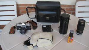 Câmera Analógica Canon Ftb - Kit Completo