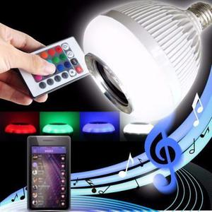 Lampada de led colorida com via bluetooth e controle remoto