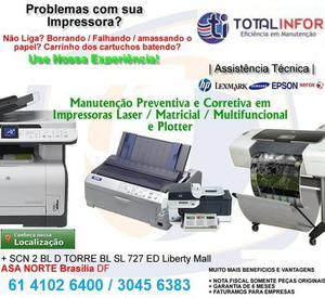 Conserto e Manutencao de Impressoras Laser ou Pro HP