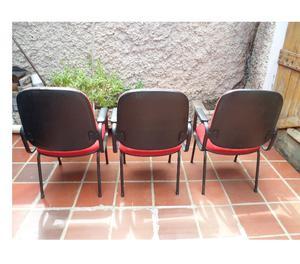 Cadeira Para Escritório Vermelha Com Apoio De Braços