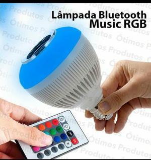 Lâmpada Led que é Caixa de Som Bluetooth + Controle