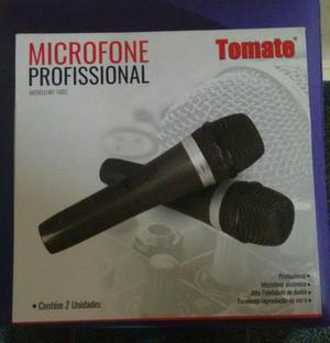 Microfone profissional duplo com fio. (novo)