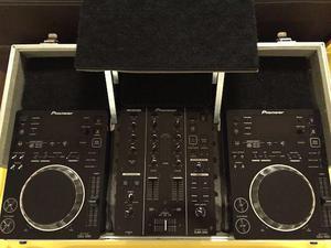 Par de CDJ 350, Mixer DJM 350 e Case (igual a novo)