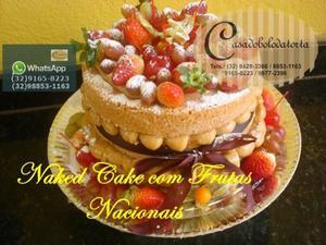 bolo naked cake para casamentos