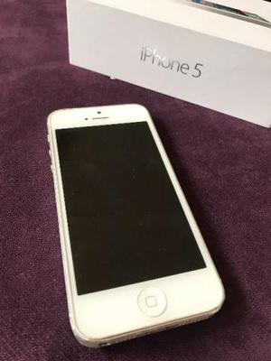 Iphone 5 32GB Branco Usado Desbloqueado única dona Caixa