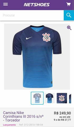 Camiseta do Corinthians da Nike