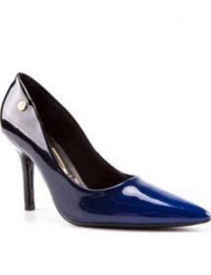 Scarpin Vizzano Degradê azul/Preto N°35