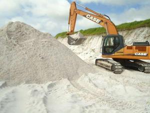 Areia de fingir a carrada com 13metros